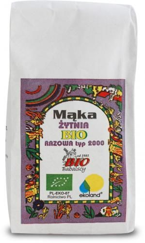 Mąka żytnia razowa TYP 2000 BIO 1kg BABALSCY