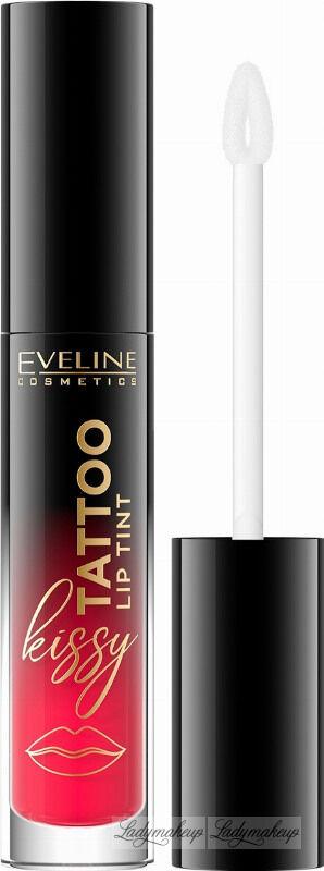 Eveline Cosmetics - Kissy Tattoo Lip Tint - Długotrwała pomadka do ust w płynie - 4,5 ml - 02 JUICY RED