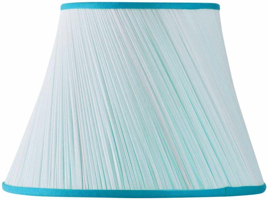 Klosz lampy, marszczony, muślin, średnica 20 x 12 x 14,5 cm (ręcznie plisowany), turkusowy