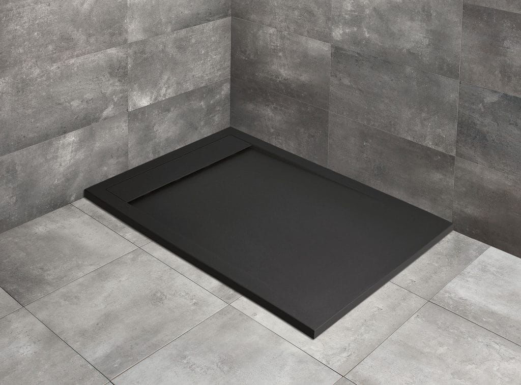 Radaway brodzik z konglomeratu Teos F Black 100x70 cm HTF10070-54