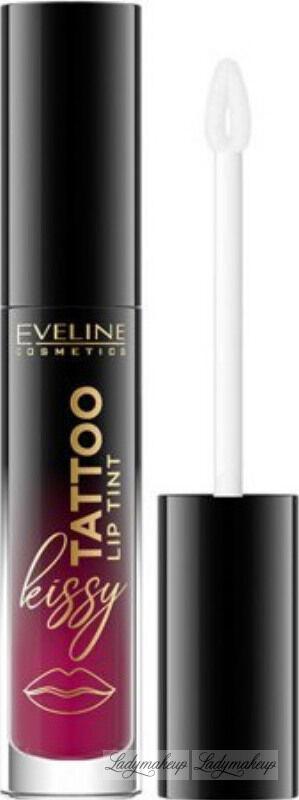 Eveline Cosmetics - Kissy Tattoo Lip Tint - Długotrwała pomadka do ust w płynie - 4,5 ml - 01 PRETTY PURPLE