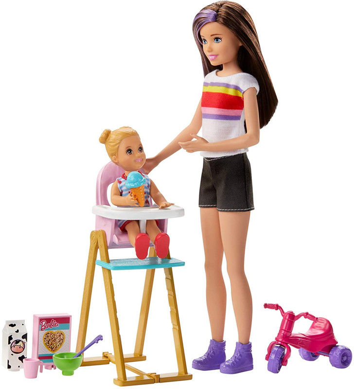 Barbie - Opiekunka dziecięca Zestaw do karmienia GHV87