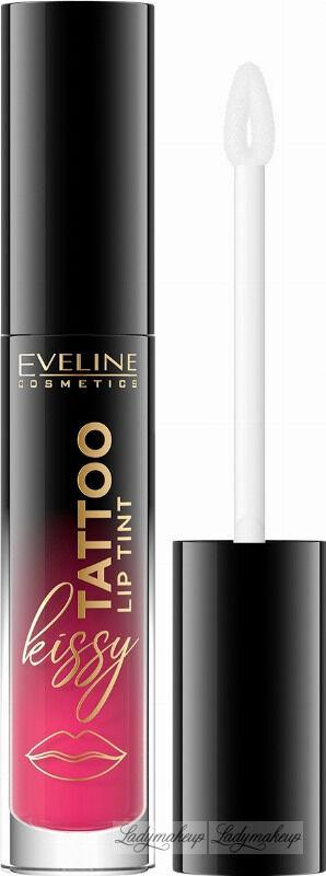 Eveline Cosmetics - Kissy Tattoo Lip Tint - Długotrwała pomadka do ust w płynie - 4,5 ml - 03 DIRTY BERRY