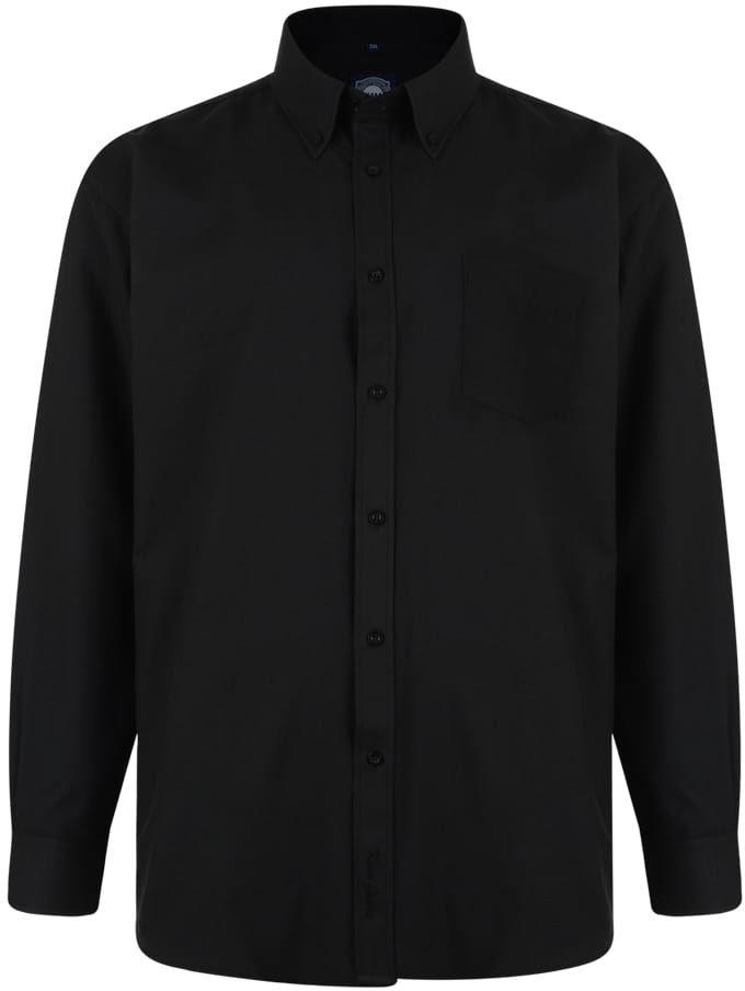 KAM 664A Koszula Męska Czarna Duże Rozmiary