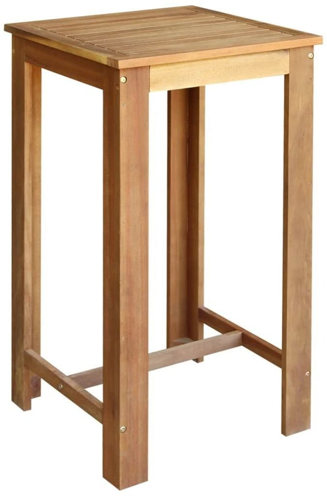 Stolik barowy drewniany Piles 2X  brązowy