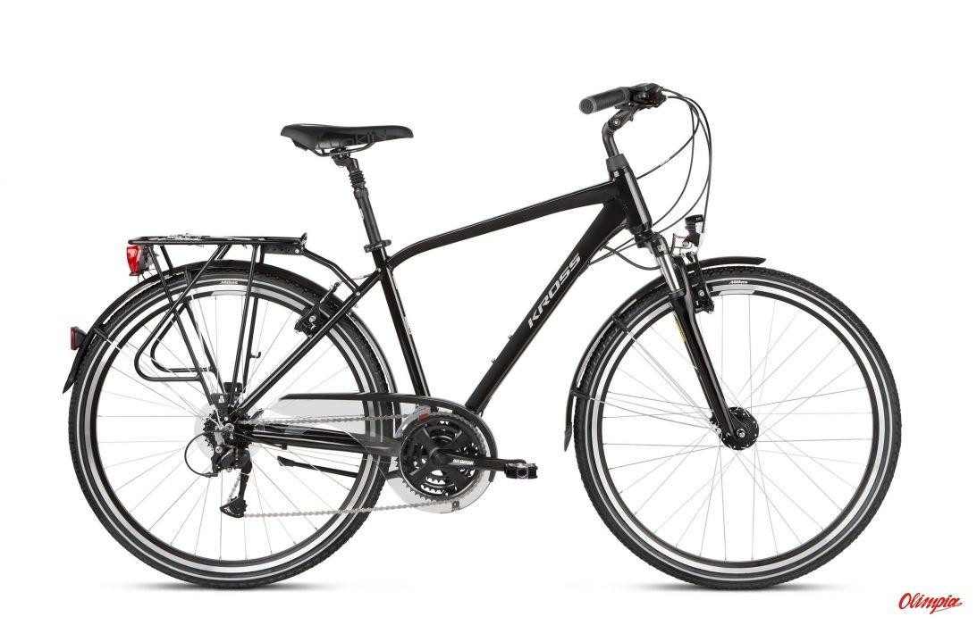 Rower Kross Trans 4.0 czarny/szary połysk 2021