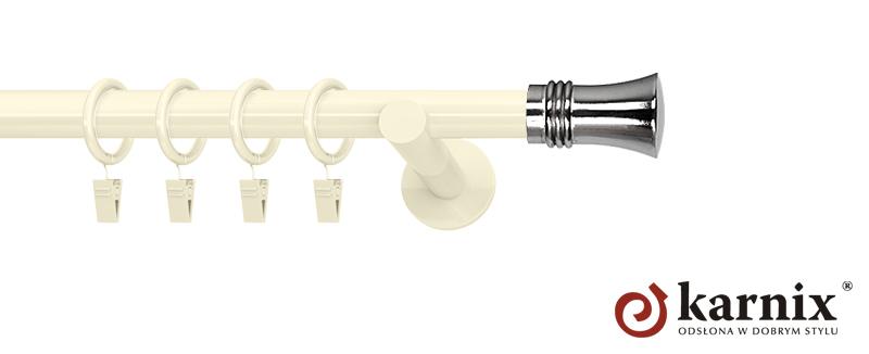 Karnisze nowoczesne NEO pojedynczy 19mm Capri ivory (kość słoniowa)