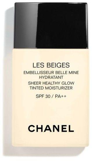Chanel Les Beiges tonujący krem nawilżający z efektem rozświetlającym SPF 30 odcień 30Deep 30 ml