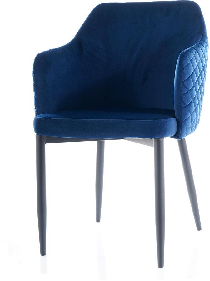 Krzesło ASTOR VELVET granatowe aksamitne pikowane  KUP TERAZ - OTRZYMAJ RABAT