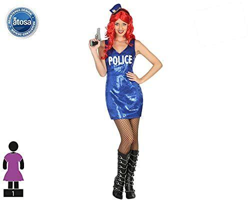 Atosa 30600  policjant, damski kostium, rozmiar XL, 44/46