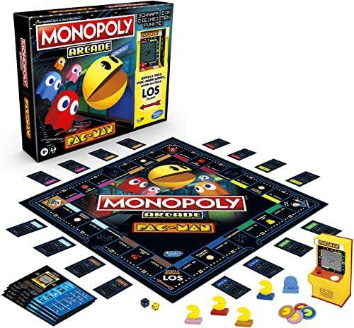 Monopoly Arcade Pac-Man, gra planszowa dla dzieci w wieku od 8 lat, łącznie z automatyką banku i Arcade