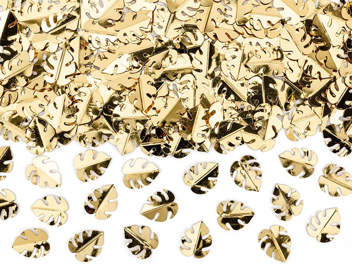 Konfetti metalizowane Złote Liście - 15 g