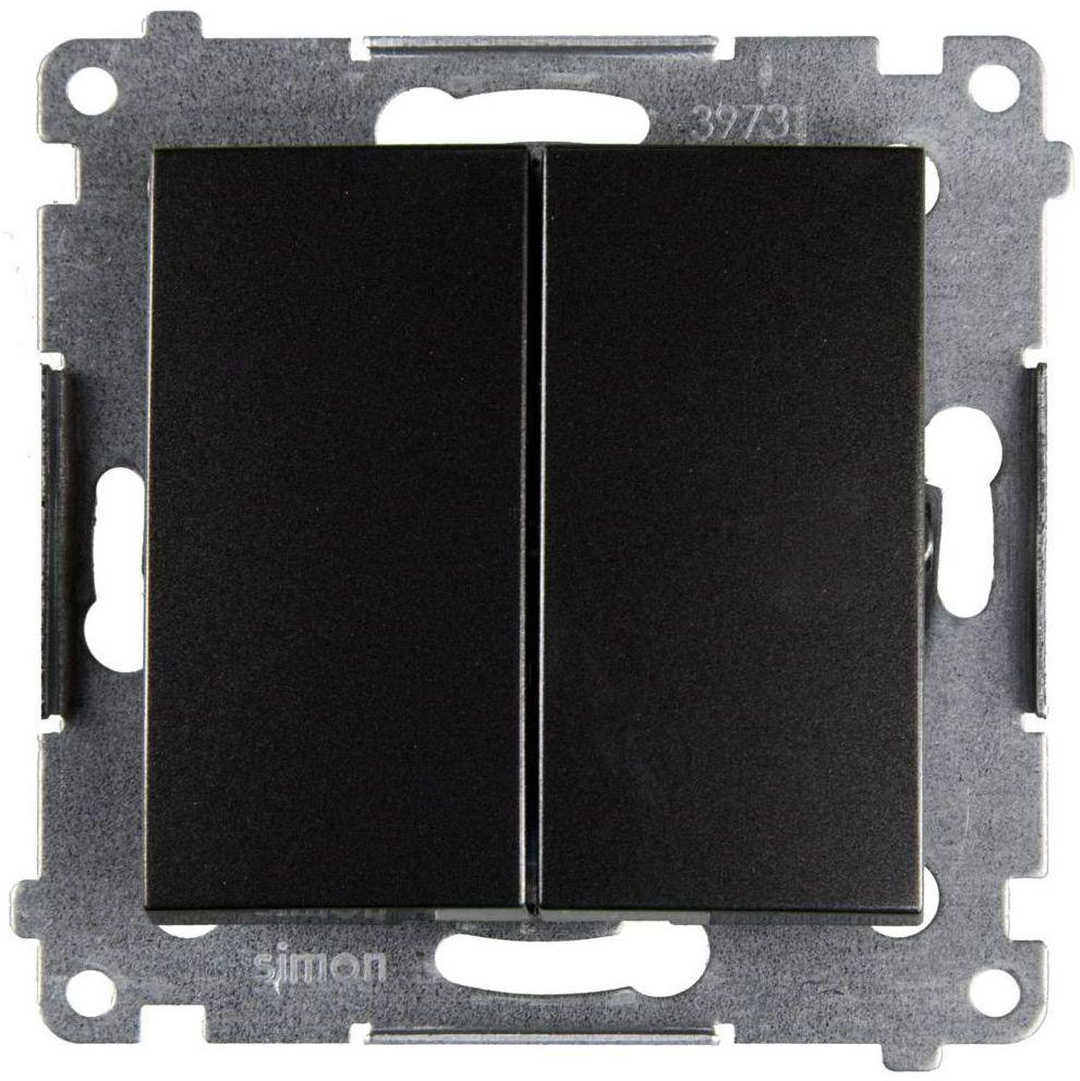 Włącznik podwójny SIMON 54 Antracytowy SIMON