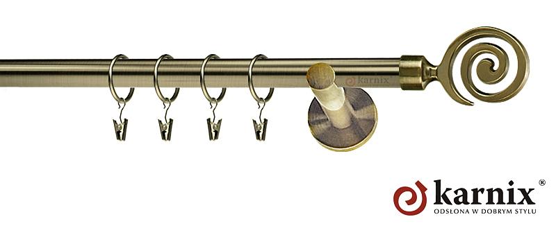 Karnisze nowoczesne NEO pojedynczy 19mm Cento antyk mosiądz