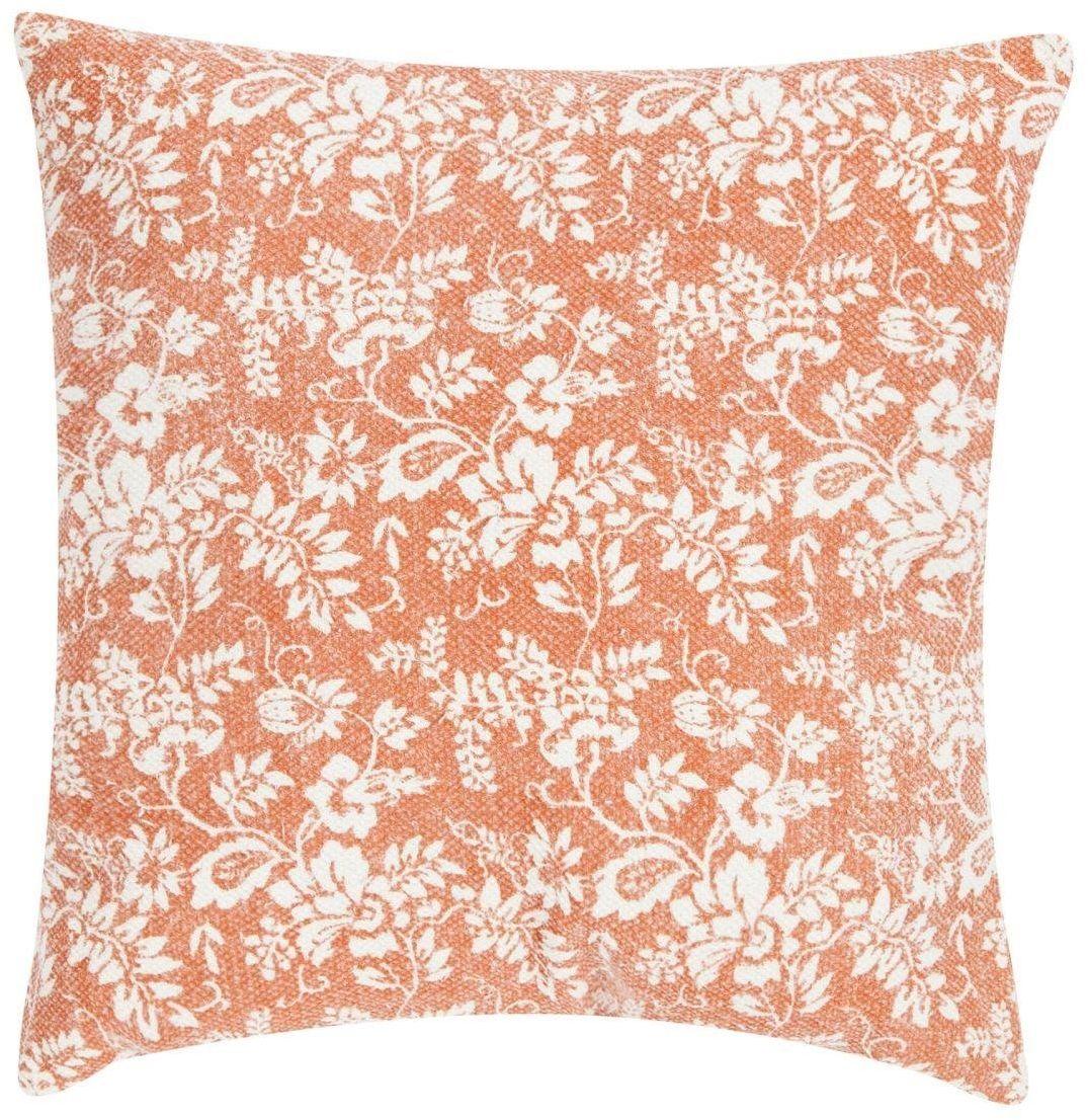 Poduszka Flower Garden 45x45 pomarańczowa