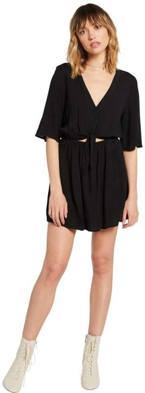 sukienka VOLCOM - Ven Om Dress Black (BLK)