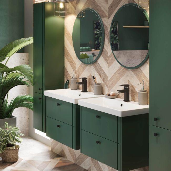 Słupek łazienkowy wysoki Mirano Azzura 30 cm zielony