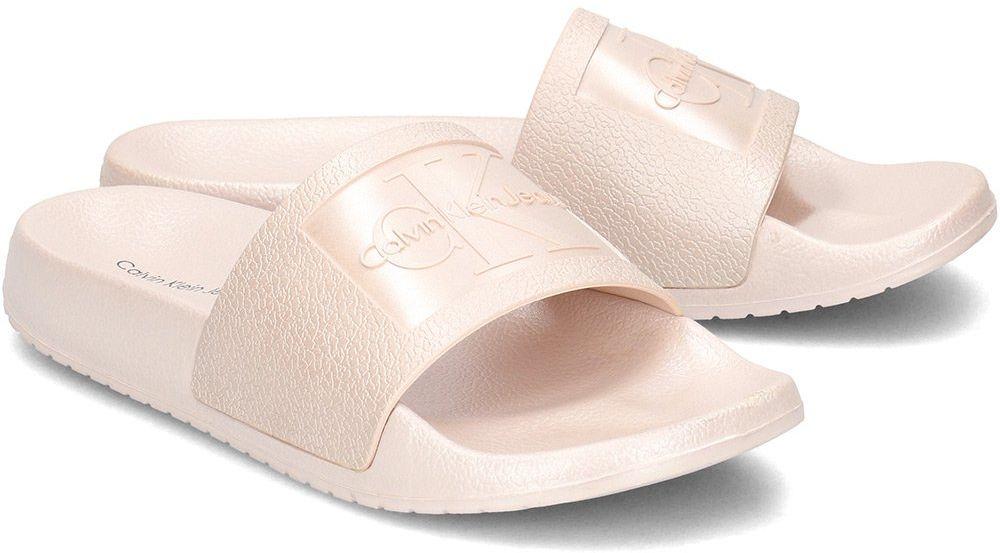 Calvin Klein Jeans Christie Metallic - Klapki Damskie - RE9854 PINK - Różowy