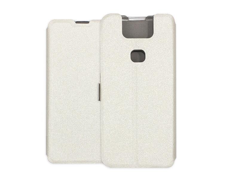 Asus Zenfone 6 (ZS630KL) - etui na telefon Wallet Book - biały