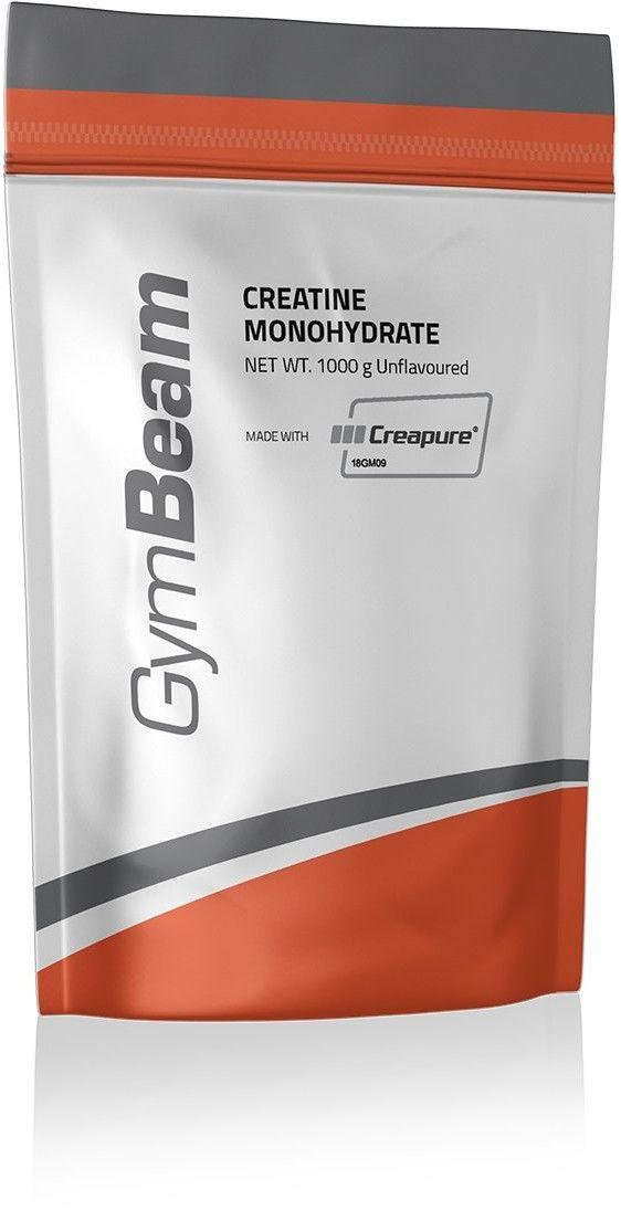 GymBeam Mikronizowany monohydrat kreatyny (100% Creapure) 250 g pomarańczowy
