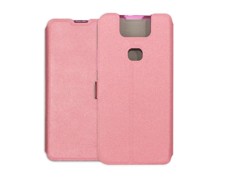 Asus Zenfone 6 (ZS630KL) - etui na telefon Wallet Book - różowy