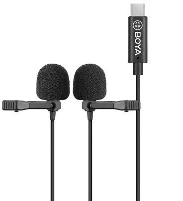 Boya BY-M3D - mikrofon krawatowy ze złączem USB-C, podwójny Boya BY-M3D