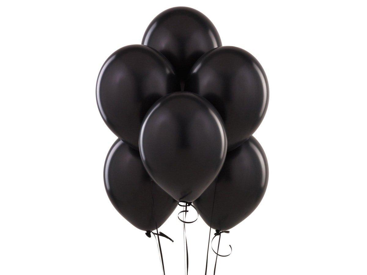 Balony lateksowe pastelowe czarne - duże - 25 szt.