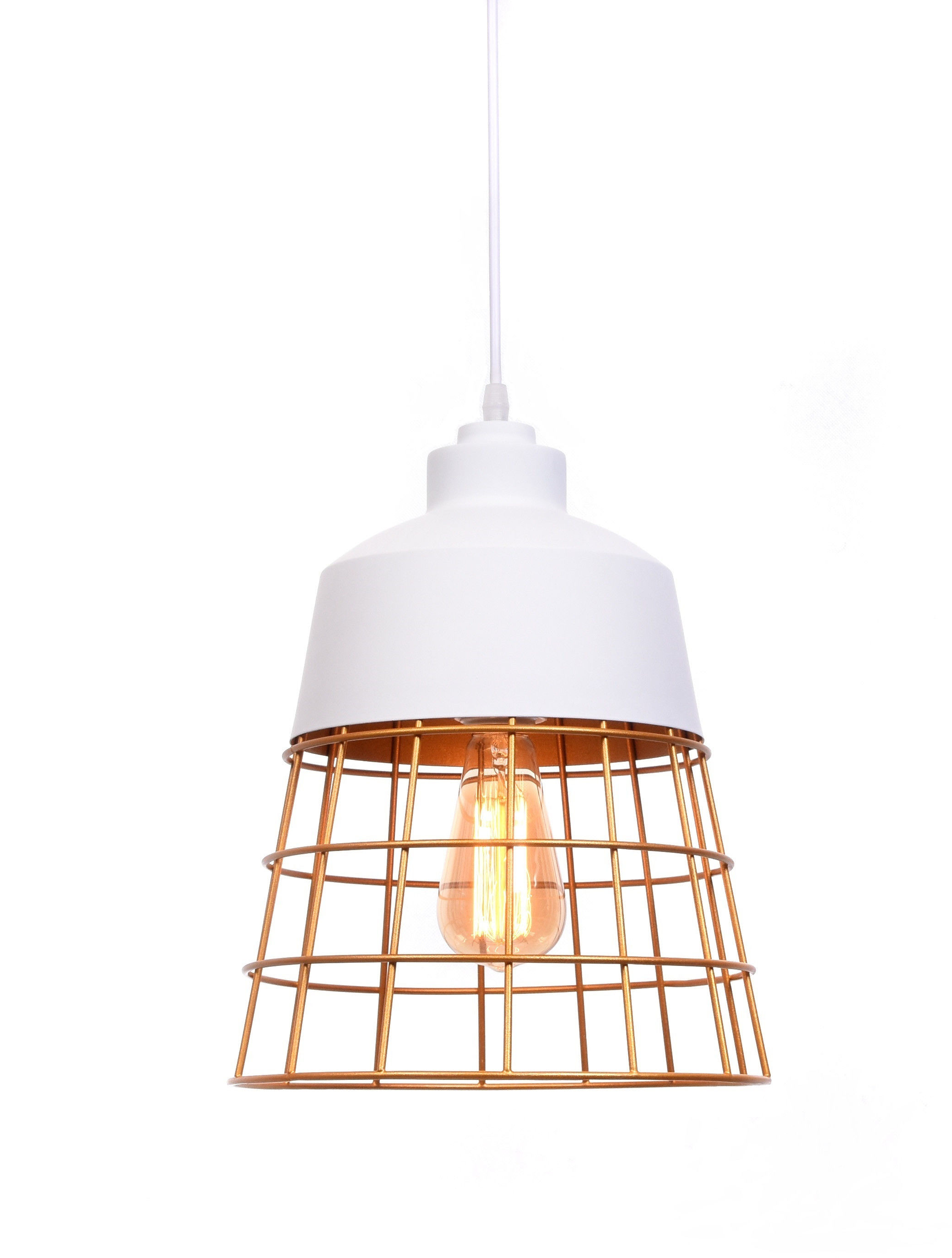 LAMPA WISZĄCA INDUSTRIALNA LOFT BIAŁA BAGSY