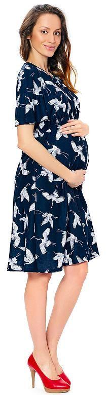 Sukienka ciążowa i do karmienia Tina w ptaszki