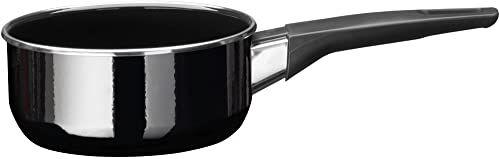 Silit Modesto Line rondel 16 cm, bez pokrywki, 1,3 l, garnek na mleko, ceramika funkcyjna Silargan, garnek indukcyjny, czarny