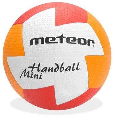 Piłka ręczna Meteor Nuage r. 1 czerwono-pomarańczowa