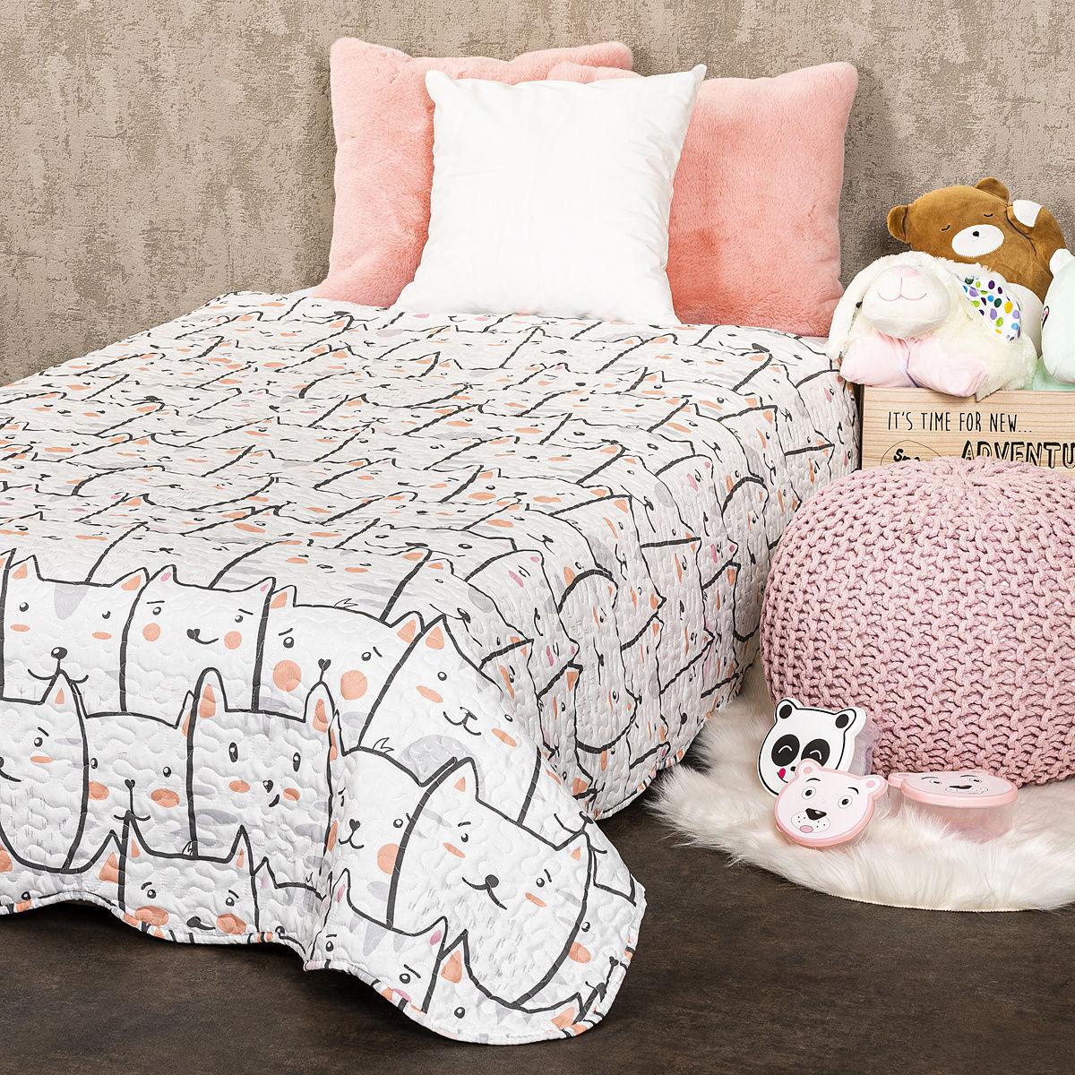 4Home Dziecięca narzuta na łóżko Koty, 140 x 200 cm