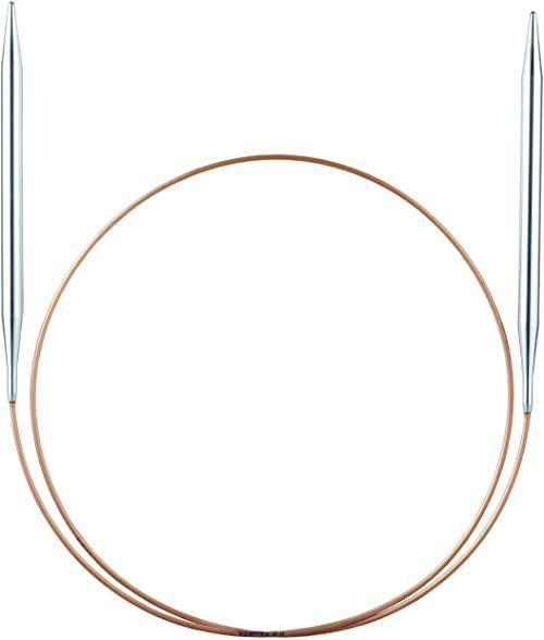 Addi Drut okrągły Basic metal, mosiądz niklowany, srebrny, 6,5/120 cm