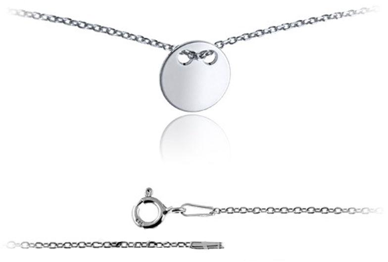 Srebrny naszyjnik 925 celebrytka pełne kółko 1,8g