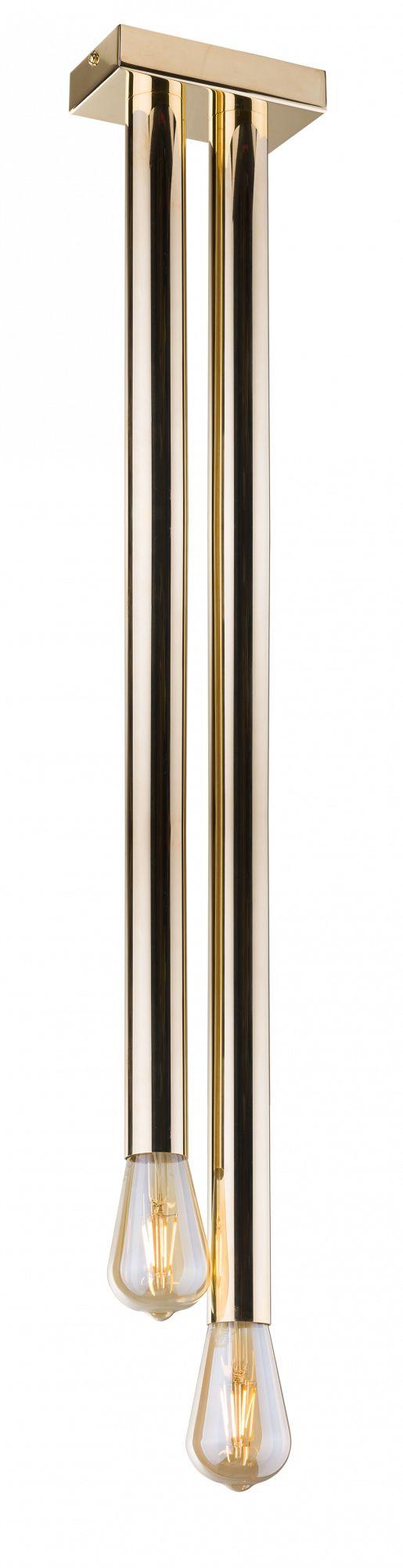 Plafon Lagos 0628 Amplex złota oprawa sufitowa w nowoczesnym stylu