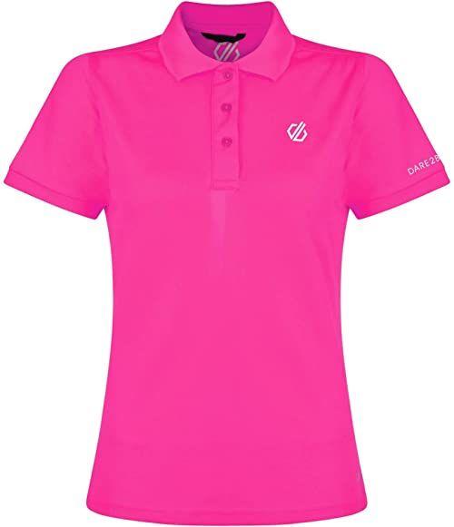 Dare 2b damska sportowa lekka koszulka polo zestaw, damska, DWT461 88718L, Cyber Pink, FR: 2XL (Tkanina ogonowa: 18)