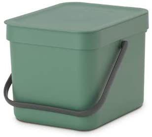Brabantia Sort & Go wiadro bio, tworzywo sztuczne, zielony jodłowy, 6 l