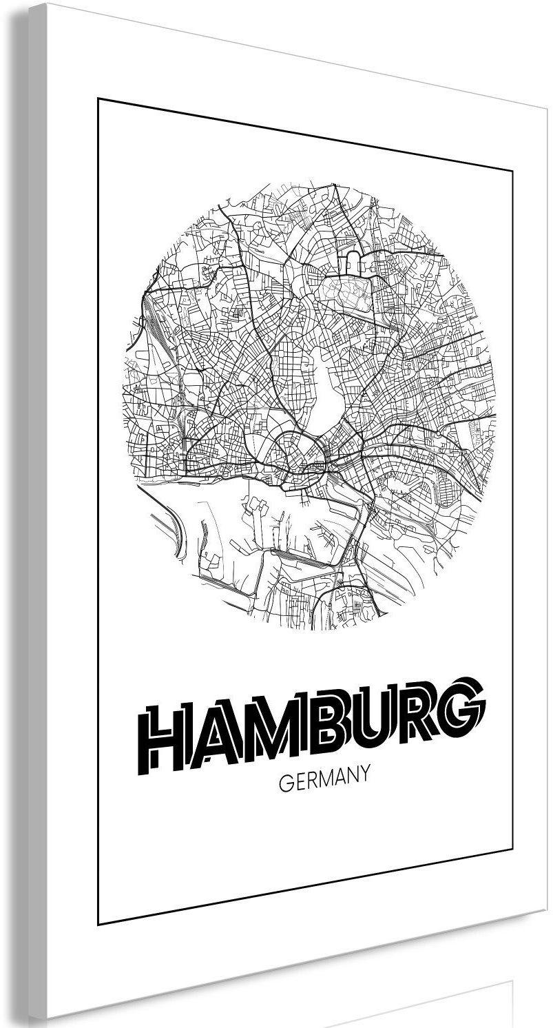 Obraz - retro hamburg (1-częściowy) pionowy