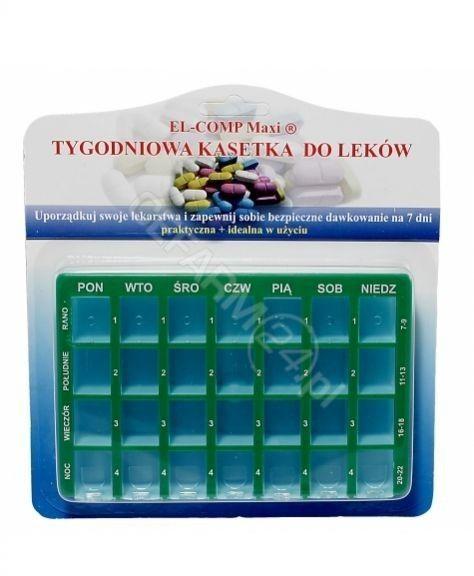 Tygodniowa kasetka do dawkowania leków doustnych EL-COMP