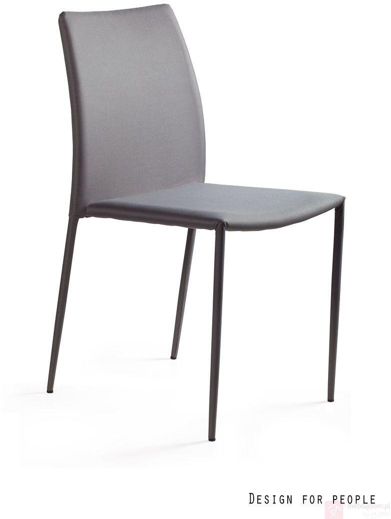 Krzesło DESIGN PVC Unique Szary  RABAT na stronie!