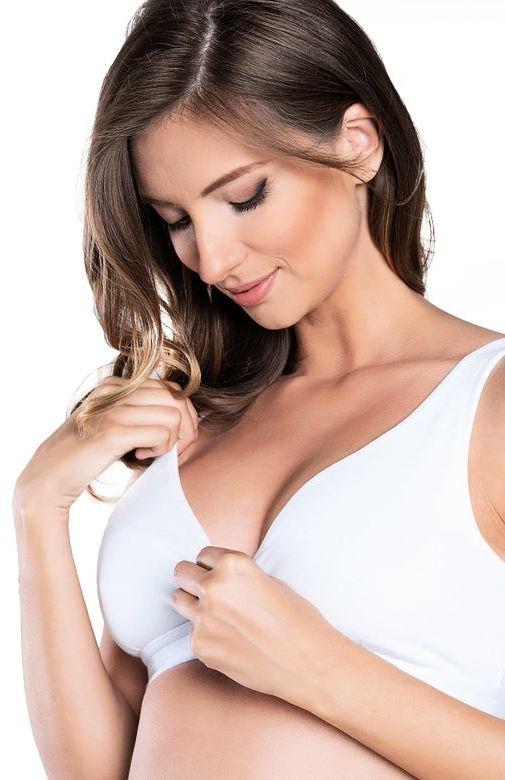 Miękki bawełniany biustonosz do karmienia piersią Lux