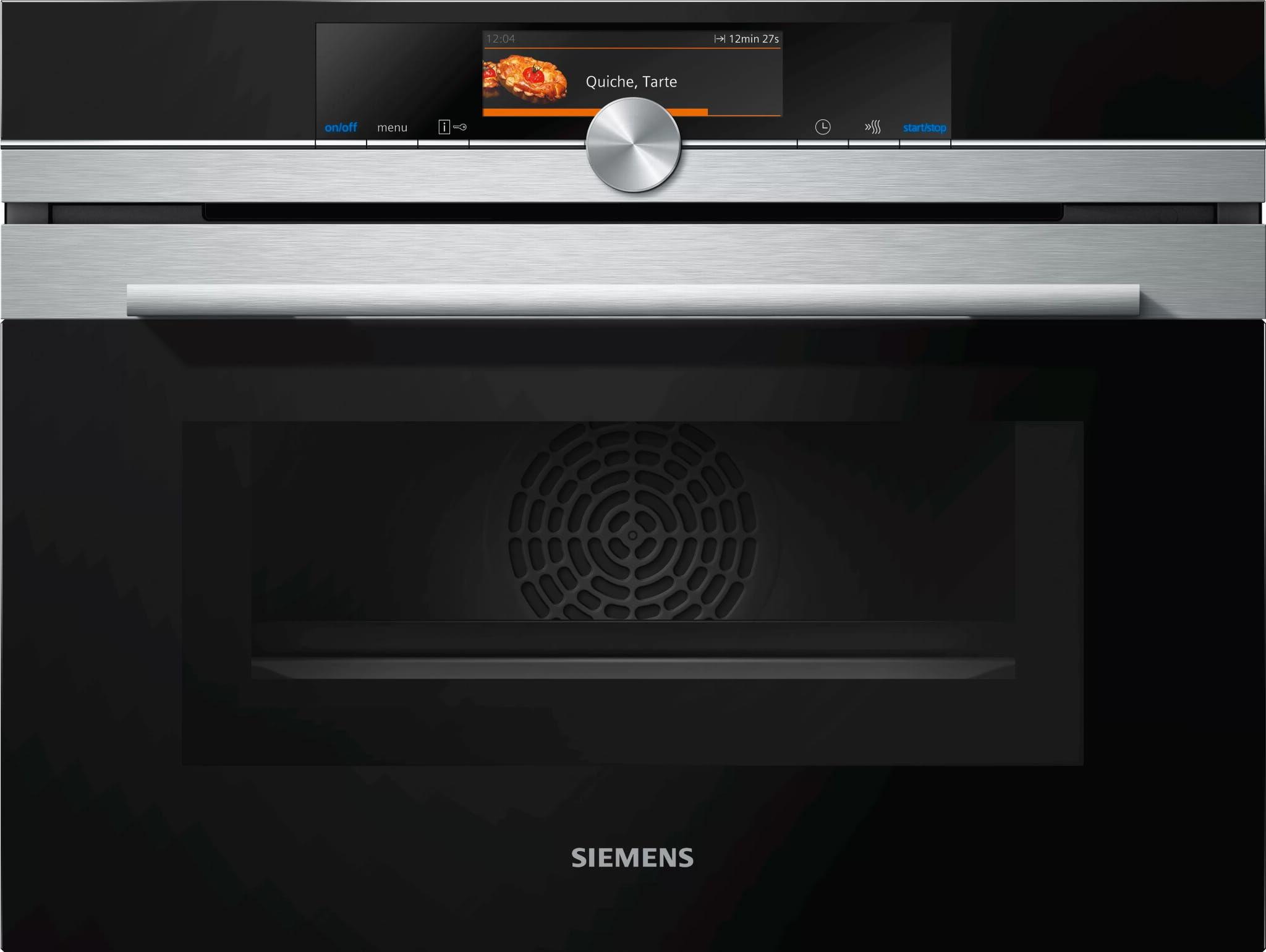 Piekarnik kompaktowy z funkcją mikrofali SIEMENS CM678G4S1