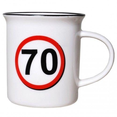Kubek na 70 urodziny Znak