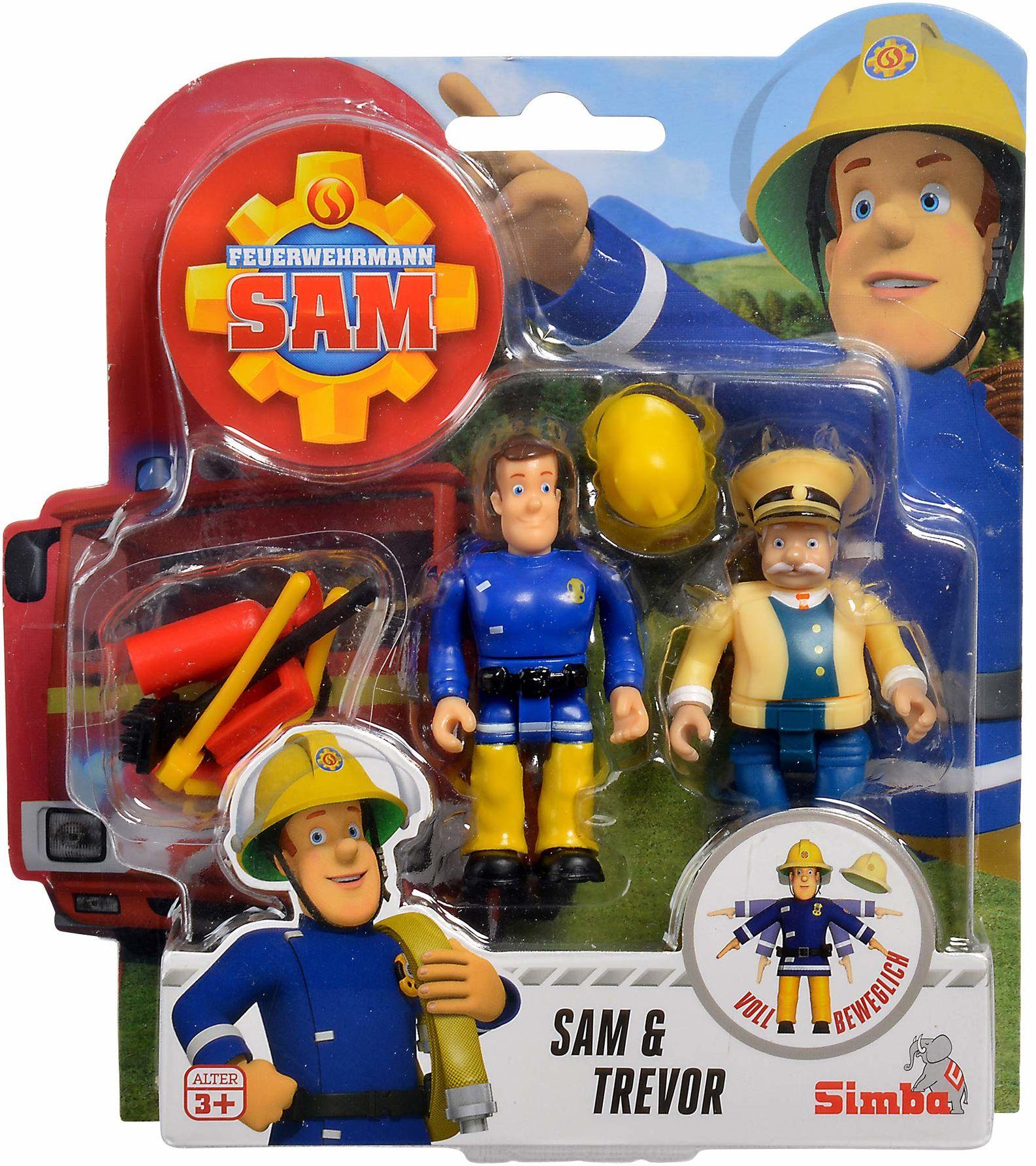 Simba 109251043  Strażak Sam figurki dwupak III / 4-krotne sortowanie / 7,5 cm / w pełni ruchome