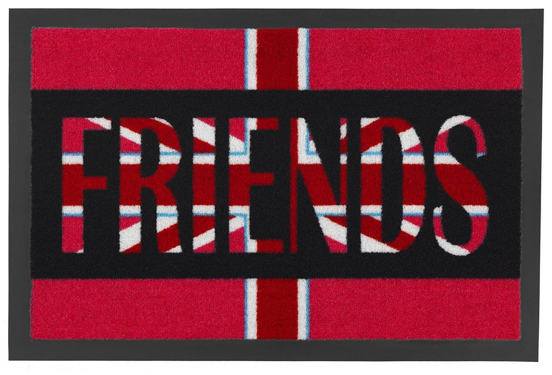 ASTRA 1672015002 mata na drzwi, wycieraczka, Flag Design Friends, 39 x 58 cm, czerwona