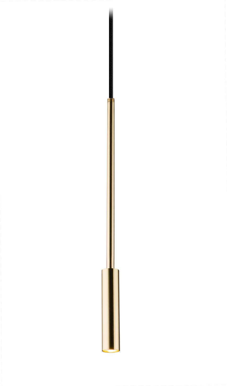 Lampa wisząca Lara 0660 Amplex pojedyncza oprawa w kolorze złotym