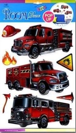 Dekoracje ścienne 3D - Wozy strażackie