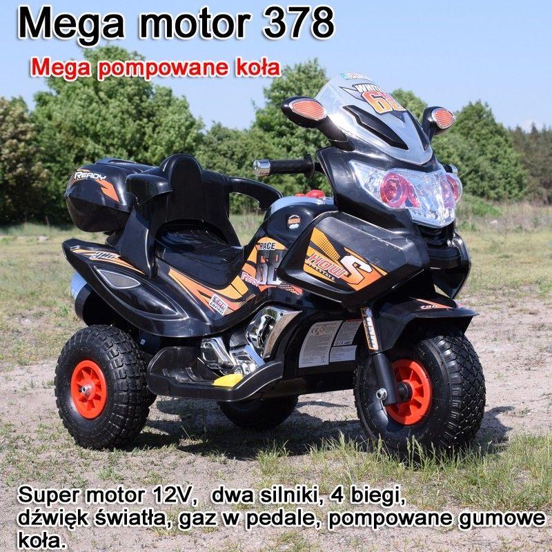 MEGA MOTOR 4 BIEGI,2 SILNIKI STRONG 2,OPARCIE, POMPOWANE KOŁA/ PB-378