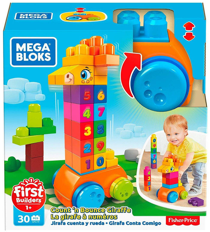Mega Bloks - Klockowa Żyrafka Buduj i jedź GFG19