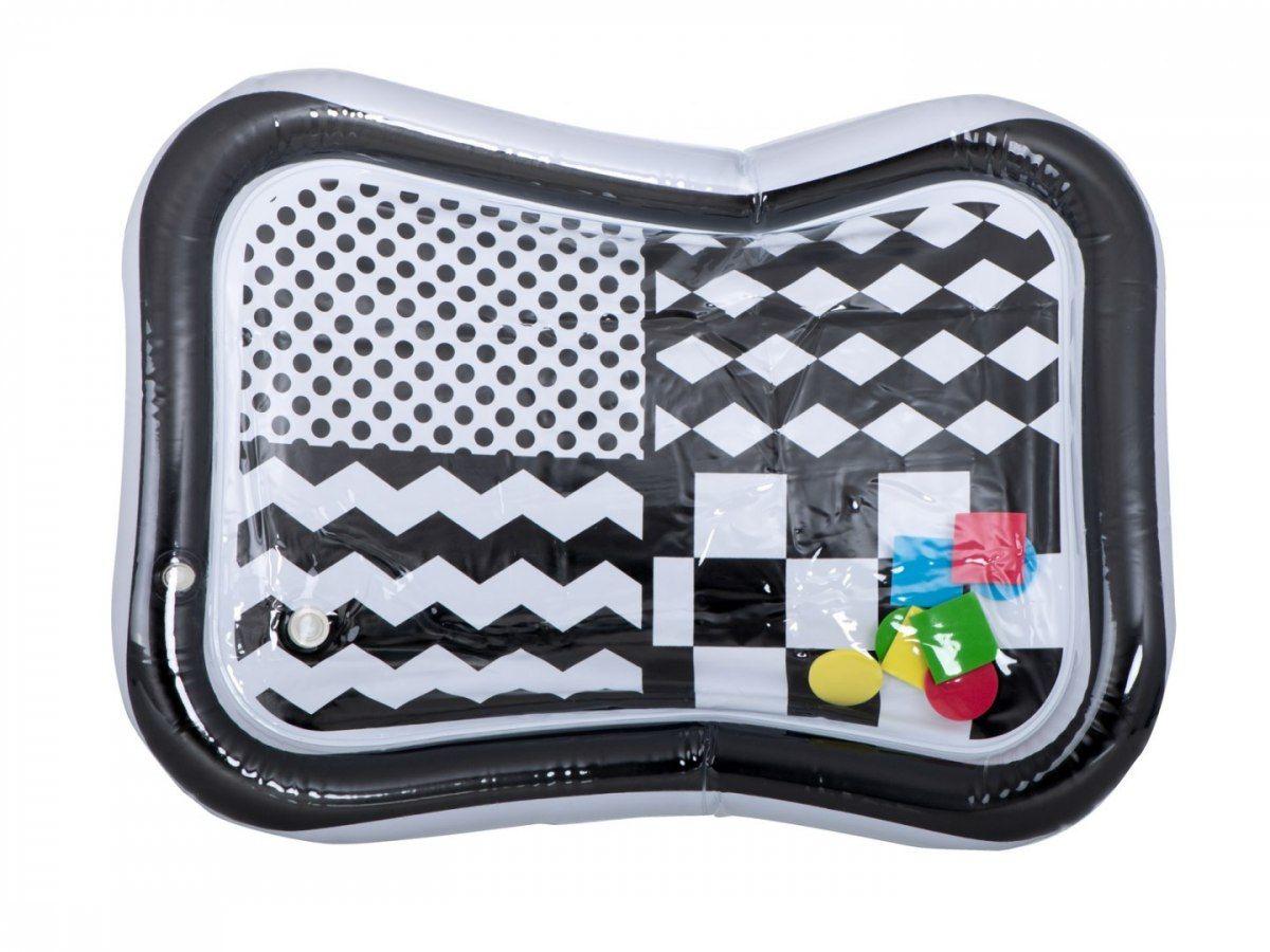 Mata wodna nadmuchiwana kontrastowa czarno-biała szachownica 65cm x 50cm